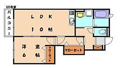 グランデムツミK[1階]の間取り