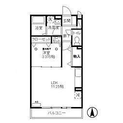 clover A棟[2階]の間取り
