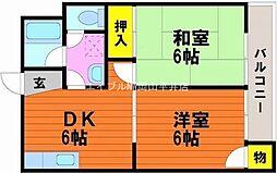 岡山県岡山市中区藤崎丁目なしの賃貸マンションの間取り