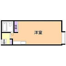 北海道室蘭市水元町の賃貸アパートの間取り