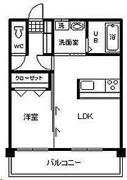 テンダーマンション3[406号室]の間取り