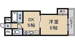 新大阪グランドハイツ北[1階]の間取り