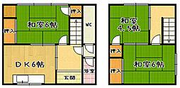 [一戸建] 京都府京都市山科区西野様子見町 の賃貸【/】の間取り