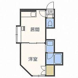 第35森宅建マンション[3階]の間取り