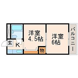 アルカディアマーユI[3階]の間取り