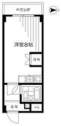 東京都板橋区四葉2丁目の賃貸マンションの間取り