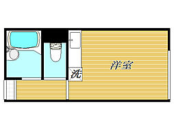 東京都練馬区平和台1丁目の賃貸アパートの間取り