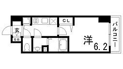 JR東海道・山陽本線 兵庫駅 徒歩4分の賃貸マンション 12階1Kの間取り