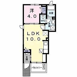 三重県名張市東町の賃貸アパートの間取り