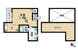 MarinStudio和白(マリンスタジオ)[2階]の間取り