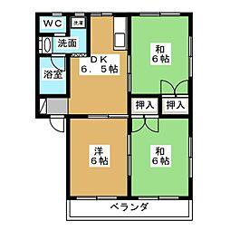 ハイツ青木[2階]の間取り