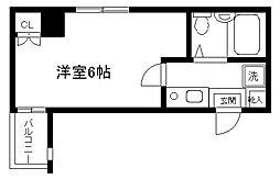 ロイヤル横浜[404号室]の間取り