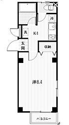 東京都町田市東玉川学園1丁目の賃貸アパートの間取り