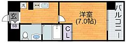 Osaka Metro谷町線 平野駅 徒歩2分の賃貸マンション 4階1Kの間取り