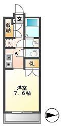 K'sサインビル[2階]の間取り