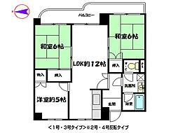 兵庫県姫路市青山西5丁目の賃貸マンションの間取り