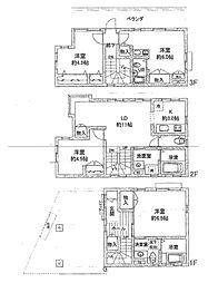 [一戸建] 神奈川県横浜市中区野毛町3丁目 の賃貸【/】の間取り