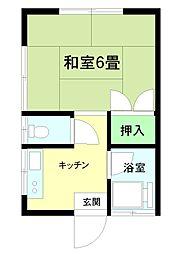 第3戸井田荘[101号室]の間取り