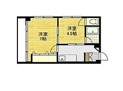 大森中央マンション[5階]の間取り