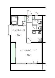 染谷コーポ[1階]の間取り