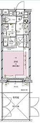 東急東横線 都立大学駅 徒歩11分の賃貸マンション 1階1Kの間取り