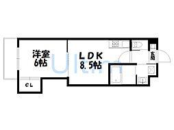 アドバンス京都西院パルティーレ[4階]の間取り