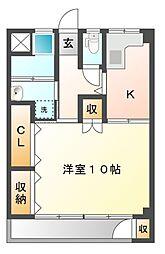土岐ステーションビル[5階]の間取り