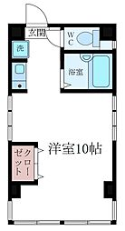 東京都江東区三好4丁目の賃貸マンションの間取り