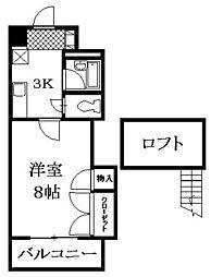 ROSE米田[4階]の間取り