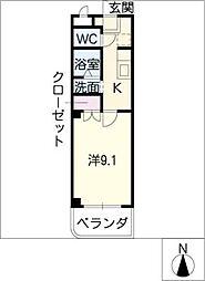 バウハウス弥生143[1階]の間取り