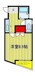 明原マンション森田[203号室]の間取り
