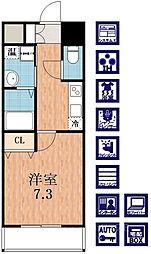 レジュールアッシュ天王寺II[2階]の間取り