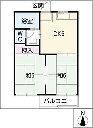フォーブル野田I[1階]の間取り
