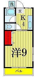 三松ハイツ[303号室]の間取り