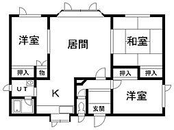 川口1棟2戸借家 1階3LDKの間取り