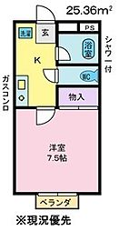 リバーハイツタワラ[1階]の間取り