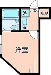 東京都足立区千住龍田町の賃貸アパートの間取り