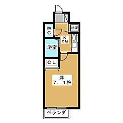 プレサンス京都二条城前風雅[2階]の間取り