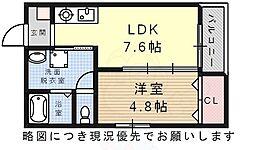Villa Urbana Sakuradai 3階1LDKの間取り