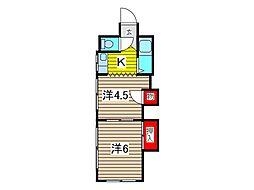 Eハイツ[1階]の間取り