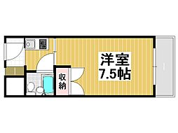 兵庫県神戸市灘区烏帽子町2丁目の賃貸マンションの間取り