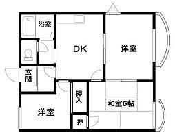 ラフィート東岸和田[1階]の間取り