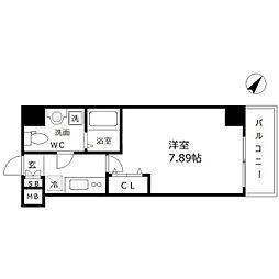 ウインズコート西梅田Ⅱ[2階]の間取り