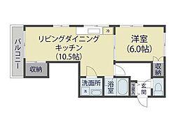 埼玉県草加市弁天2の賃貸マンションの間取り
