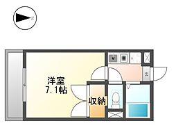 ロイヤル六番[2階]の間取り
