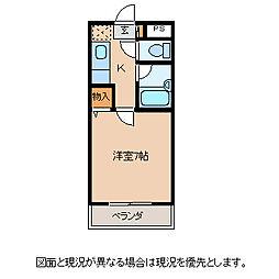 長野県茅野市米沢の賃貸マンションの間取り