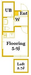 ベイルーム藤棚[1階]の間取り