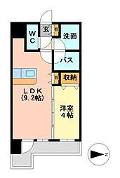マストスタイル東別院[12階]の間取り
