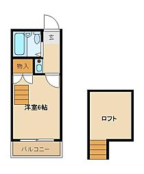 Aフラット[2階]の間取り