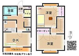 神奈川県横浜市瀬谷区阿久和西3丁目の賃貸アパートの間取り